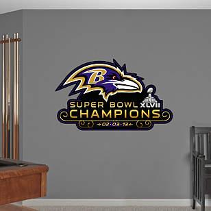 Baltimore Ravens Super Bowl XLVII Champions Logo