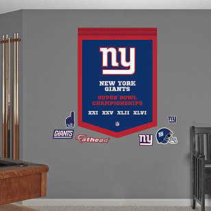 New York Giants Super Bowl Champions Banner