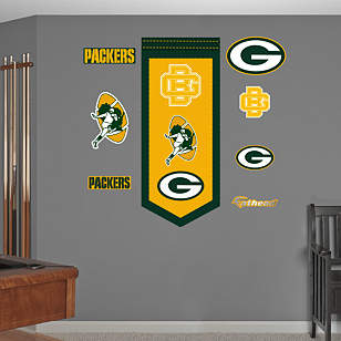 Green Bay Packers Logo Evolution Banner