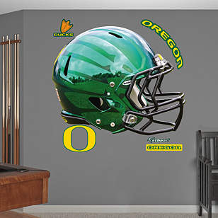Oregon Ducks Liquid Thunder Green Helmet
