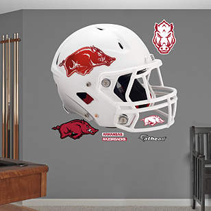 Arkansas Razorbacks White Helmet