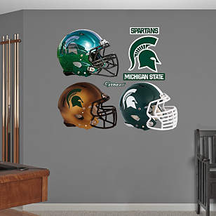 Michigan State Spartans Helmet Collection