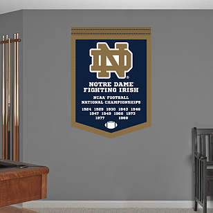 Notre Dame Football National Championships Banner
