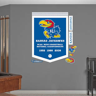 Kansas Jayhawks Men's Basketball National Championships Banner