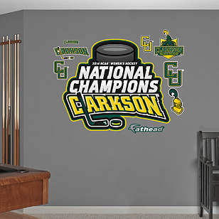Clarkson Golden Knights - 2014 Women's Hockey National Champions Logo