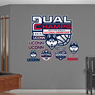 UConn Huskies Dual National Champions Logo