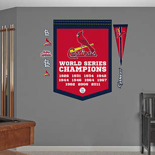 St Louis Cardinals World Series Champions Banner