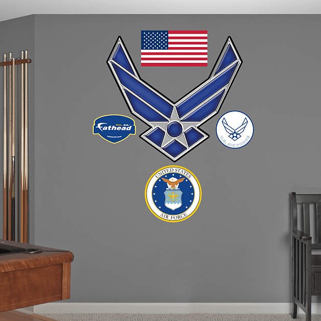 Usaf Wall Decor : United states air force symbol wall decal fathead? for decor