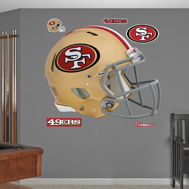 San francisco 49ers helmet wall decal shop fathead for for 49ers wall mural