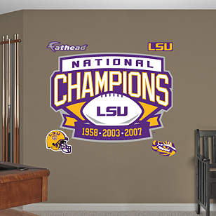 LSU Tigers Football National Champions Logo