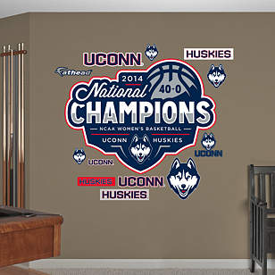 UConn Huskies 2014 NCAA Women's Basketball Champions Logo