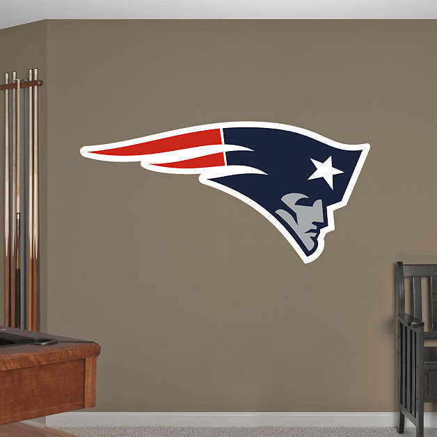 New england patriots logo fathead wall decal - New england patriots bedroom accessories ...