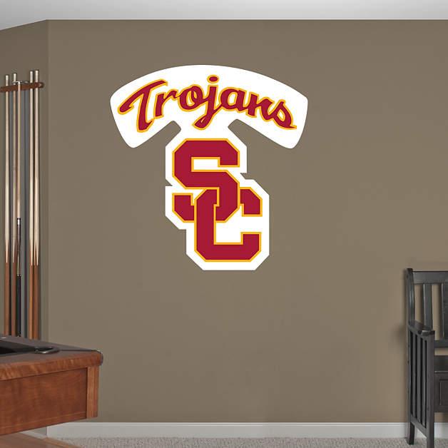Shop Usc Trojans Wall Decals Amp Graphics Fathead College