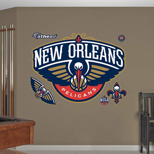 New Orleans Pelicans Logo Wall Decal Shop Fathead For