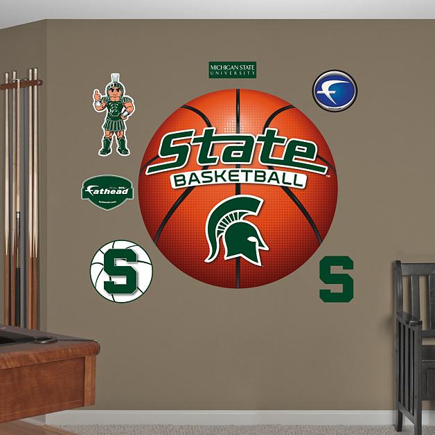MSU Spartans Basketball Logo Wall - 149.9KB