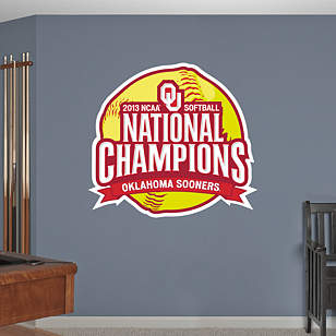 Oklahoma Sooners 2013 NCAA® Women's Softball Champions Logo