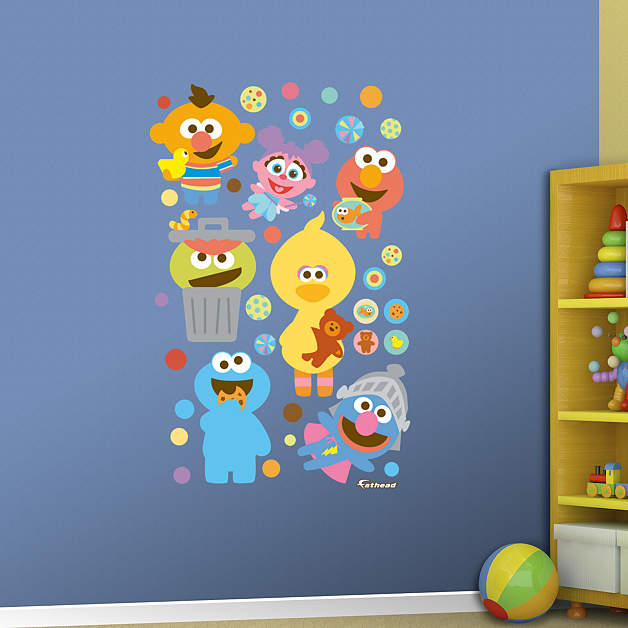 Sesame street baby collection wall decal shop fathead for Elmo wall mural