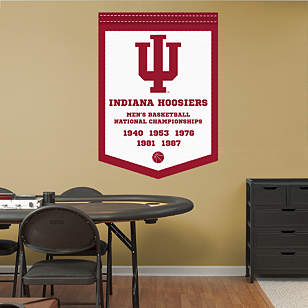 Indiana Hoosiers Men's Basketball National Championships Banner