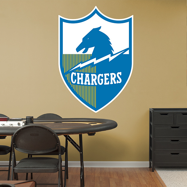 San Diego Chargers Decal: San Diego Chargers Original AFL Logo Wall Decal