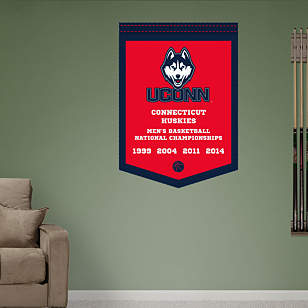 UConn Huskies Men's Basketball Championships Banner