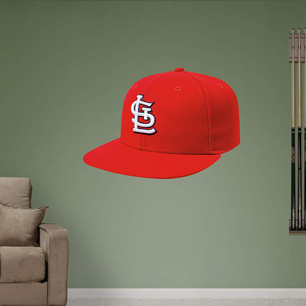 st louis cardinals cap wall decal shop fathead for st. Black Bedroom Furniture Sets. Home Design Ideas