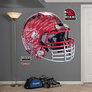 Miami RedHawks Chrome Helmet