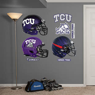 TCU Horned Frogs Helmet Collection