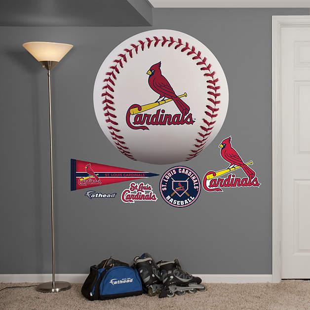 st louis cardinals baseball logo wall decal shop. Black Bedroom Furniture Sets. Home Design Ideas