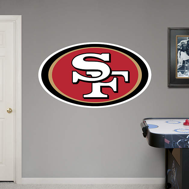 San francisco 49ers logo fathead wall decal for 49ers wall mural
