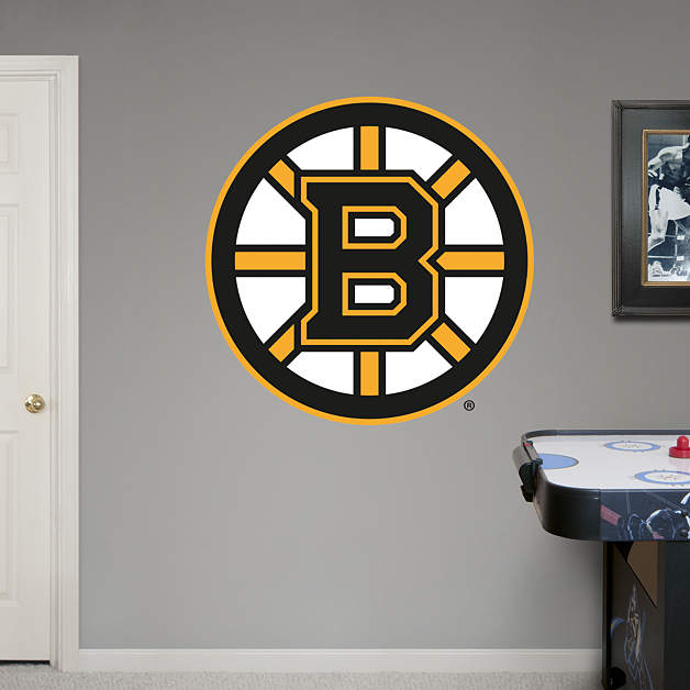 Boston bruins logo fathead wall decal Bruins room decor