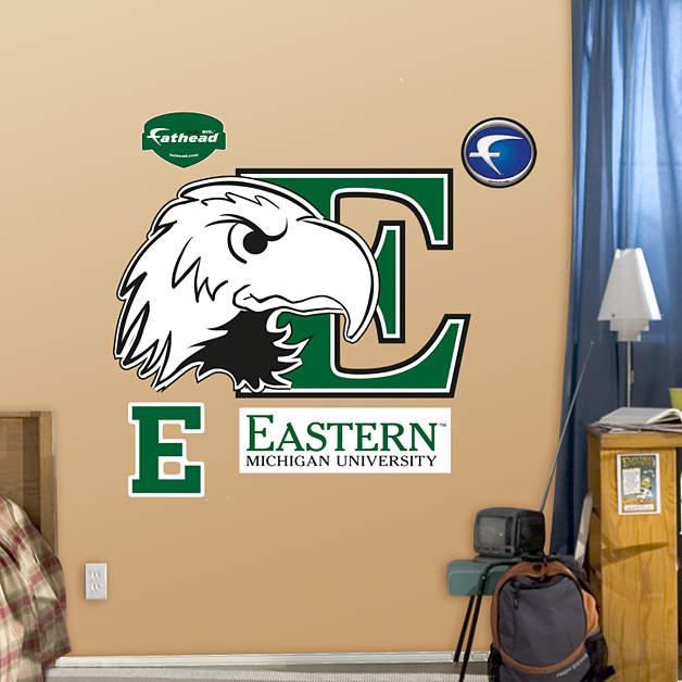 Eastern Michigan University Logo Wall Decal Shop Fathead
