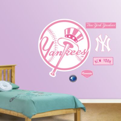 Detroit Tigers Pink Logo Fathead Wall Decal