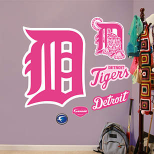 Detroit Tigers Pink Logo