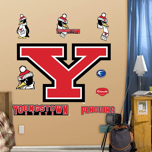 youngstown state penguins logo wall decal shop fathead