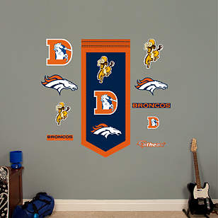 Denver Broncos Logo Evolution Banner