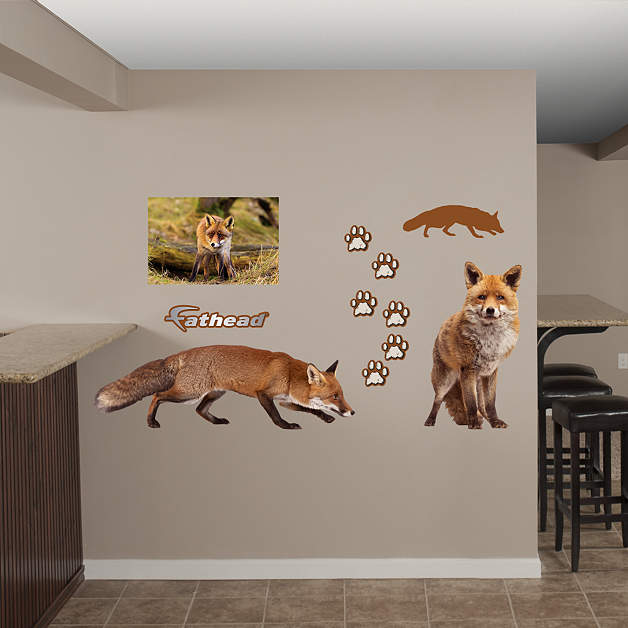 Fox Wall Decal Shop Fathead 174 For General Animal Graphics