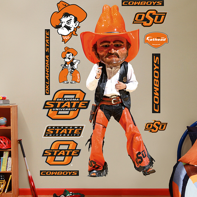Oklahoma State Mascot Pistol Pete Wall Decal Shop