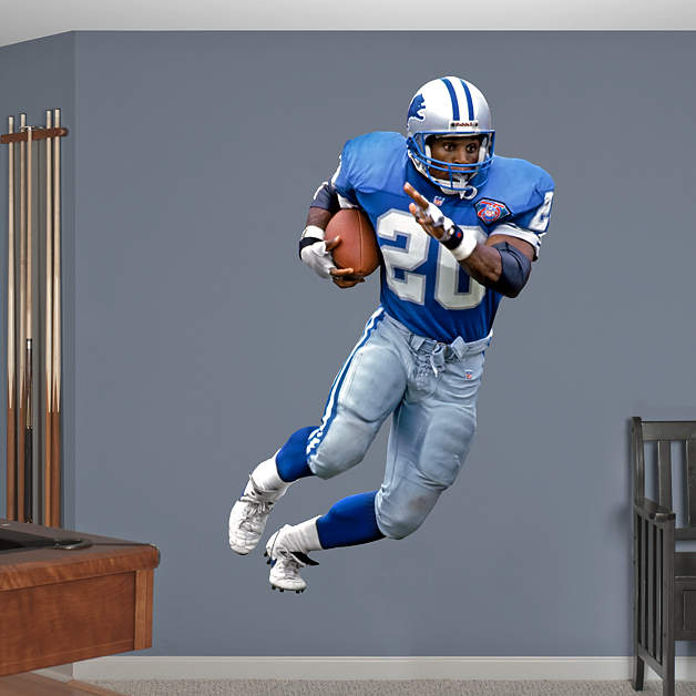 Life Size Barry Sanders Record Breaker Wall Decal Shop