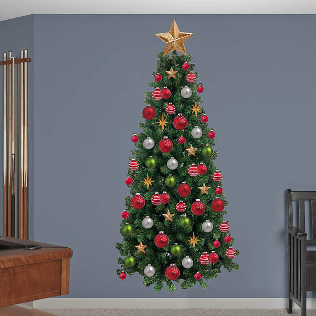 Christmas tree fathead wall decal - Christmas wall decorations ...