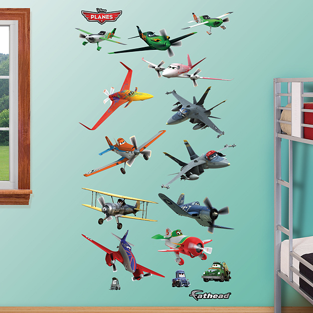 Planes collection wall decal shop fathead for disney for Disney planes wall mural