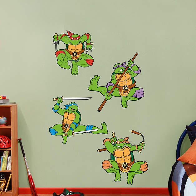 Classic Teenage Mutant Ninja Turtles Collection Wall Decal