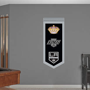 Los Angeles Kings Logo Evolution Banner