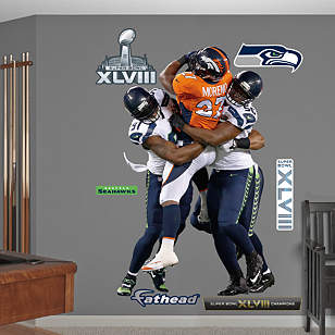 Chris Clemons and Cliff Avril - Super Bowl XLVIII Group Tackle