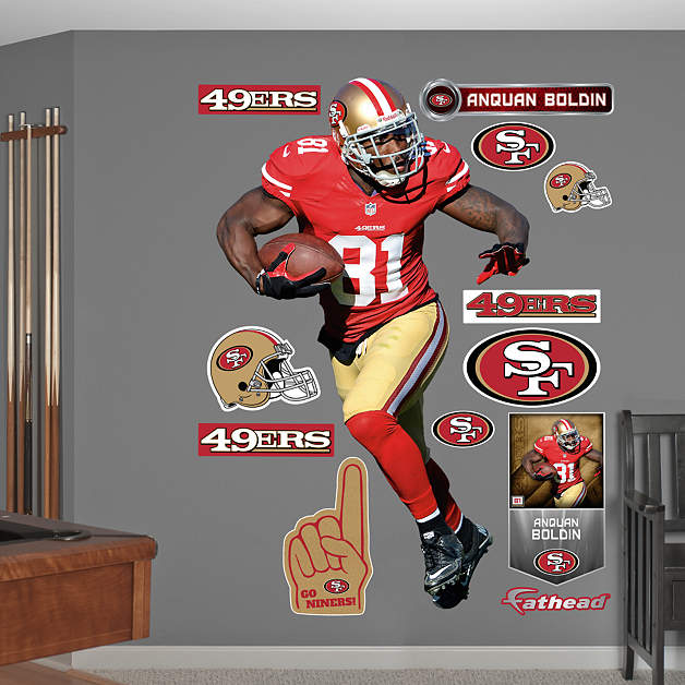 Life size anquan boldin no 81 wall decal shop fathead for 49ers wall mural