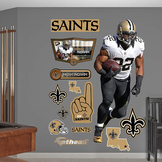 Life Size Mark Ingram Away Wall Decal Shop Fathead