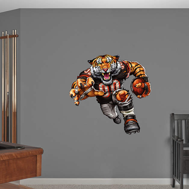 Brawling bengal wall decal shop fathead for cincinnati for Bengals bedroom ideas