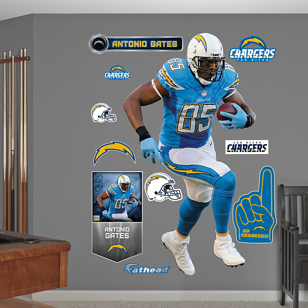 San Diego Chargers Antonio Gates: Life-Size Antonio Gates Wall Decal