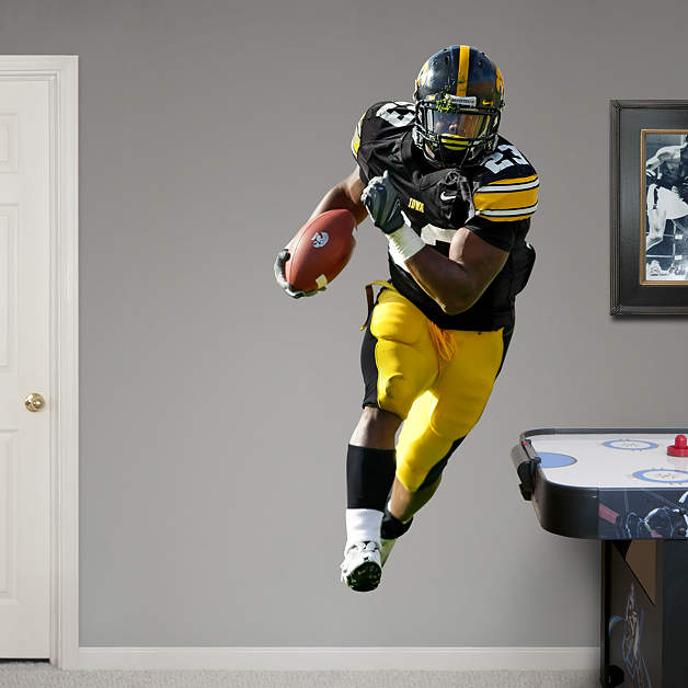 Life size shonn greene iowa wall decal shop fathead for for Iowa hawkeye decor