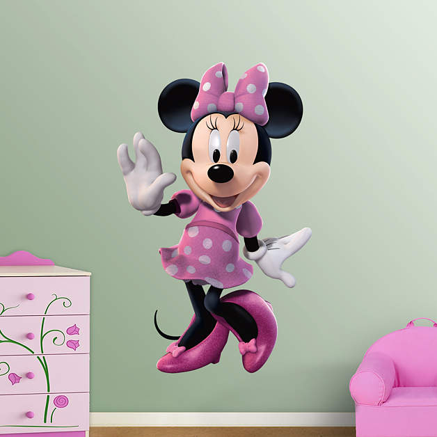 Minnie Mouse Wall Decal Shop Fathead For Mickey Mouse Decor