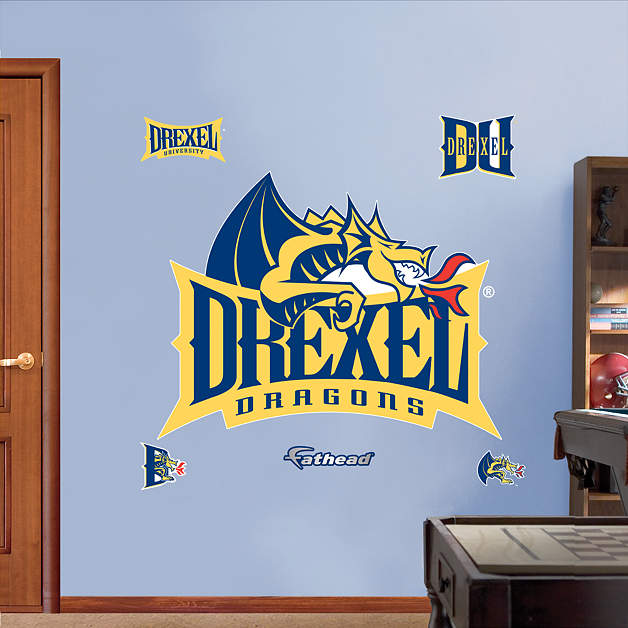 Drexel Dragons Logo Wall Decal Shop Fathead 174 For Drexel